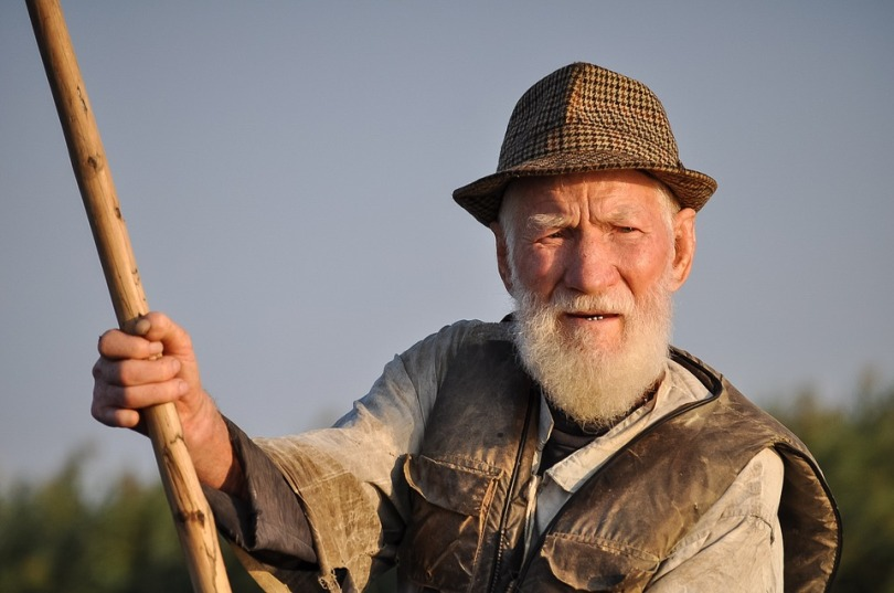 Man Portrait Person Traditional Fisherman Old